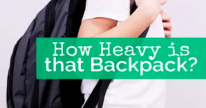 How Heavy Is That Backpack? image